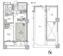パークキューブ西ヶ原ステージ 15階1LDKの間取り