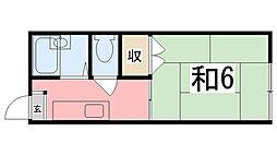 シチズンシティハイツ[2階]の間取り