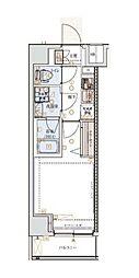 JR京浜東北・根岸線 横浜駅 徒歩13分の賃貸マンション 3階1Kの間取り