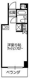 ティハール所沢[5階]の間取り