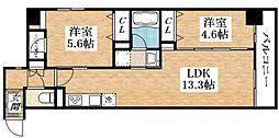 Osaka Metro谷町線 平野駅 徒歩6分の賃貸マンション 5階1SDKの間取り