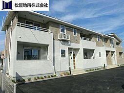 愛知県豊橋市東幸町字長山の賃貸アパートの外観