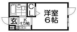 エムケイ6香里園[4階]の間取り