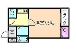 大阪府豊中市穂積1丁目の賃貸マンションの間取り