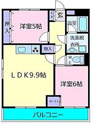 マンションクレール[3階]の間取り