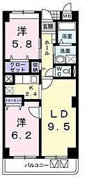 神奈川県川崎市宮前区菅生5丁目の賃貸マンションの間取り