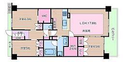 北大阪急行電鉄 桃山台駅 徒歩12分の賃貸マンション 6階3LDKの間取り
