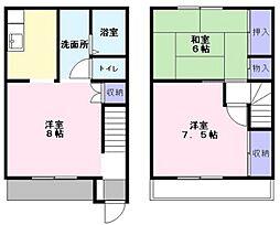 [テラスハウス] 千葉県鎌ケ谷市粟野 の賃貸【/】の間取り