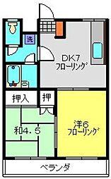 キャッスルヒロ[3階]の間取り