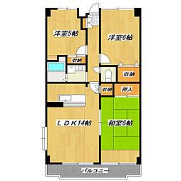 コンフォール瑞江I[5階]の間取り