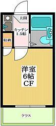 東京都世田谷区砧1丁目の賃貸アパートの間取り