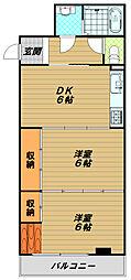 サルヴェ・ドマーニ須磨海浜公園[1階]の間取り
