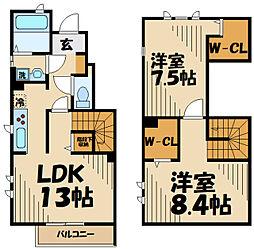 Maison en bois(メゾンボワ) 1階2LDKの間取り