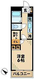 京王相模原線 京王多摩センター駅 徒歩17分の賃貸マンション 3階1Kの間取り
