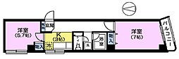 東京都中野区中央2丁目の賃貸マンションの間取り