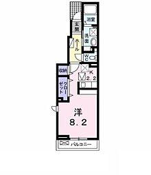 名鉄名古屋本線 東岡崎駅 バス12分 稲熊8丁目下車 徒歩2分の賃貸アパート 1階1Kの間取り