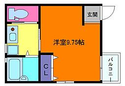 アクロス芦屋西アパートメント[3階]の間取り