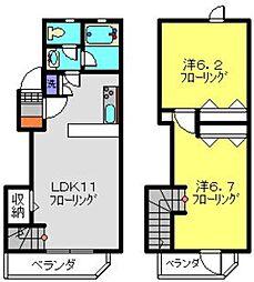 [テラスハウス] 神奈川県川崎市中原区上小田中1丁目 の賃貸【/】の間取り