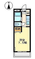 プチメゾン雅[201号室]の間取り