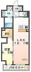仮)本町新築マンション 9階1LDKの間取り