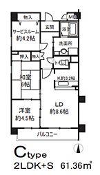エクセル姫島[4階]の間取り