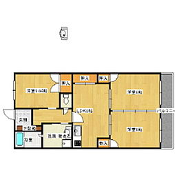 第二松尾ビル[301号室]の間取り