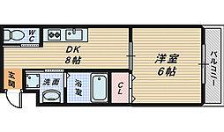 シティーコート堺東[7階]の間取り
