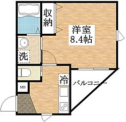 フローリッシュ正覚寺[2階]の間取り