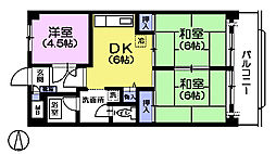 ペルリーノ武蔵関E[4階]の間取り