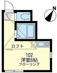 ユナイト神大寺レフォルマの杜[102号室]の間取り