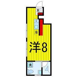 ブライトハウス氷川台[1階]の間取り