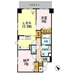 オーチャードK[3階]の間取り