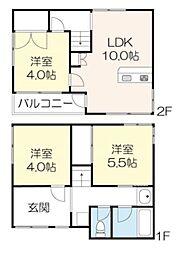元浅草2丁目戸建 1階3LDKの間取り