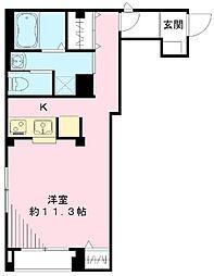 マグノリア 2階ワンルームの間取り