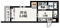 JR山手線 目白駅 徒歩4分の賃貸マンション 1階1Kの間取り