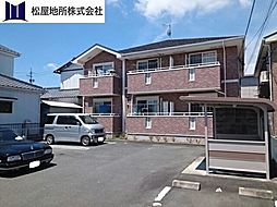 愛知県豊川市東名町2丁目の賃貸アパートの外観
