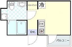 PRIME Air 羽田 3階ワンルームの間取り