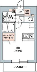 GNOME KUNITACHI(ノーム国立) 3階ワンルームの間取り