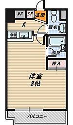 大阪府大阪市城東区新喜多2の賃貸マンションの間取り
