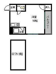 shinotsuki(旧 コーポとびうめII)[102号室]の間取り