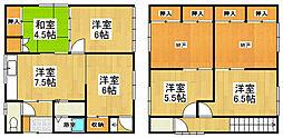 [一戸建] 北海道小樽市稲穂4丁目 の賃貸【/】の間取り