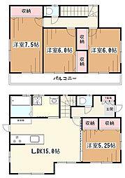 [一戸建] 東京都東村山市久米川町4丁目 の賃貸【/】の間取り