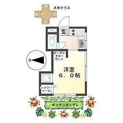 恵明荘 Herbal Apartment みんなで創るキッチンガーデン[5号室]の間取り