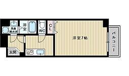 イーストコート新大阪[8階]の間取り