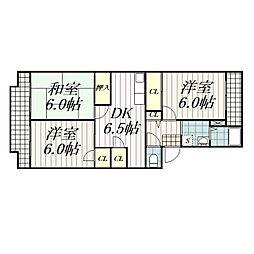 BELLEハイツシムラ[2階]の間取り