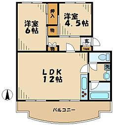 東京都多摩市落合3丁目の賃貸マンションの間取り