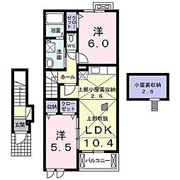 神奈川県鎌倉市手広3丁目の賃貸アパートの間取り