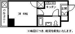 K&K俵ビル10番館[407号室]の間取り
