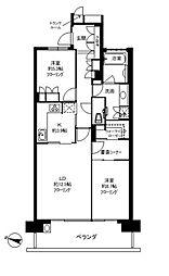 深沢ハウスH棟[2階]の間取り