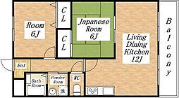 豊都ビル[3階]の間取り